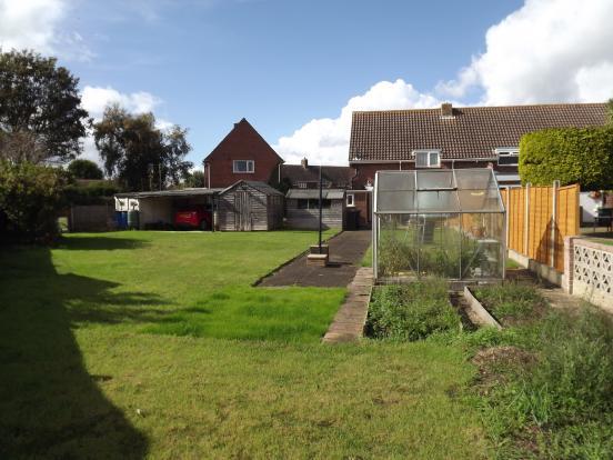 Rear garden looking