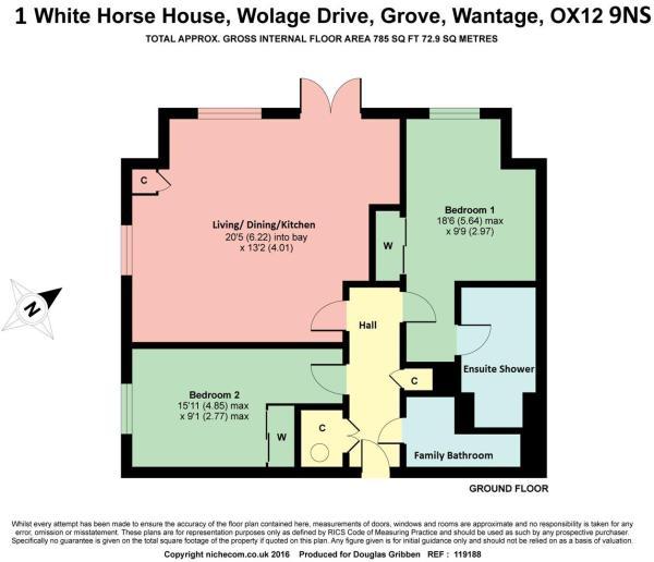 Floor Plan 1 White H