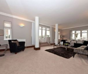 photo of beige white living room lounge with pillars carpet rug rugs zebra and chairs furniture zebra chairs