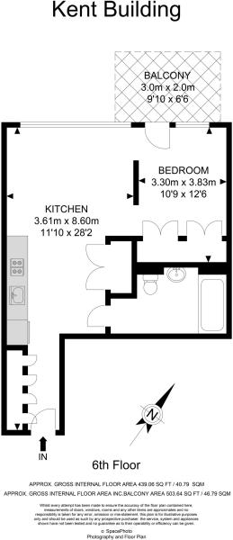 1 bedroom apartment for sale in Kent Building Hope Street London City Island E14 E14 - Westfield Stratford Floor Plan