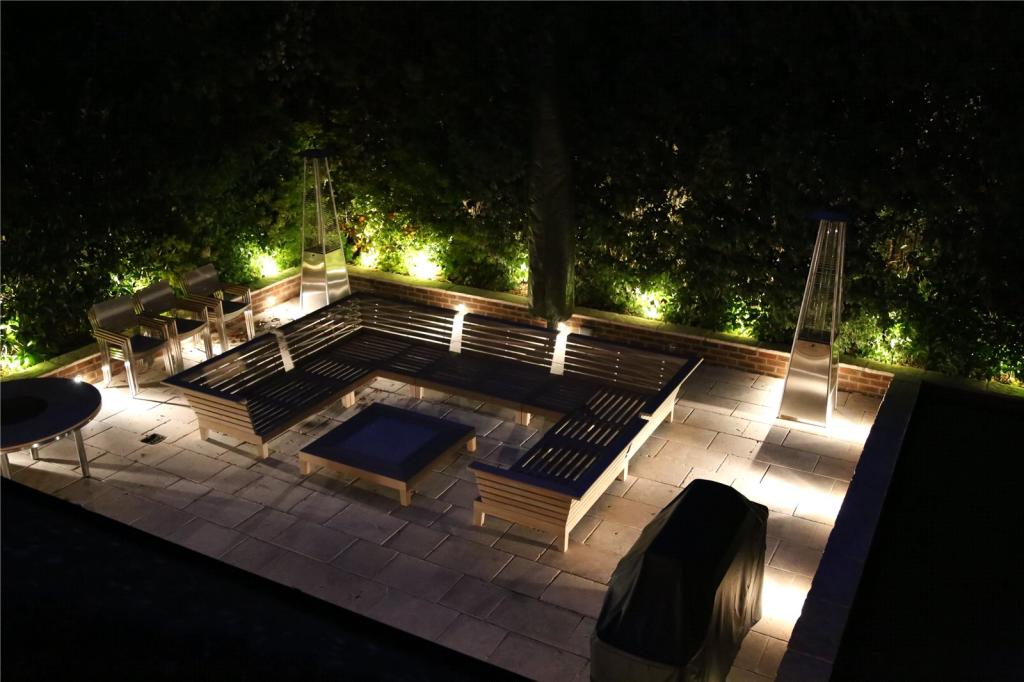 Rear Patio At Night