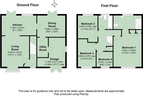 4 bedroom semi detached house for sale in highgrove close for Highgrove house floor plan