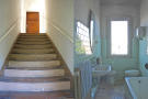 Stairs and bathroom