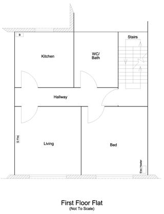 floor plan, first floor flat 1