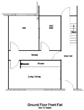 floor plan, ground floor, front flat 4
