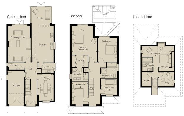 Large 5 bedroom house plans uk | Design sweeden