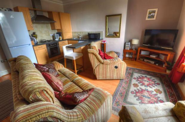 Lounge kitchen open plan aspect
