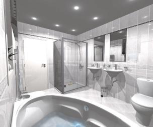 photo of white ensuite ensuite bathroom