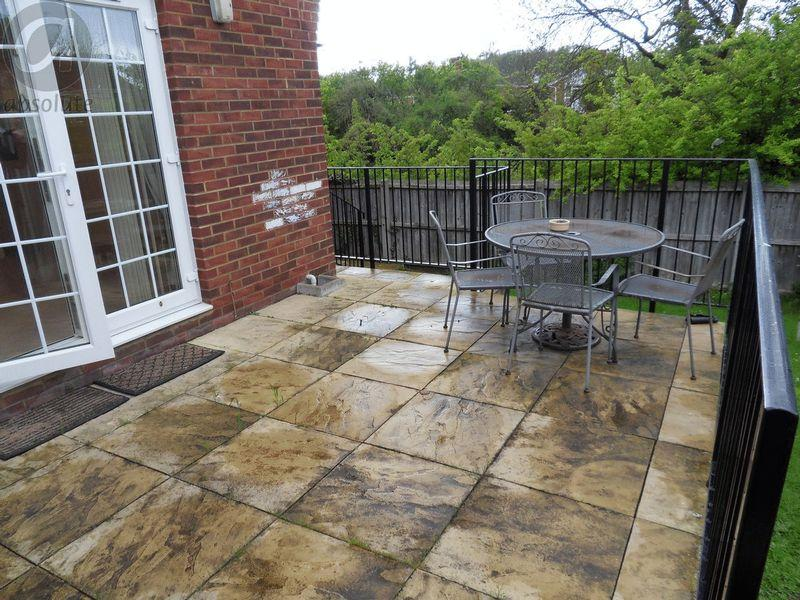 Raised Patio Area