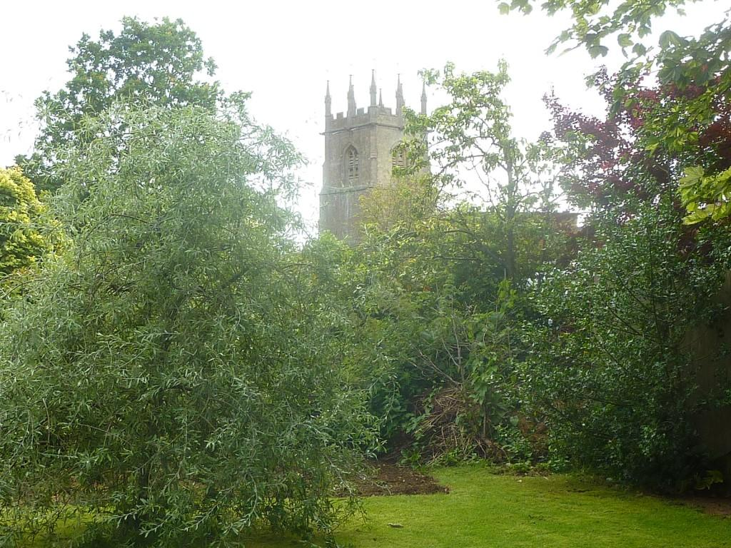 View Of Church From Rear Garden