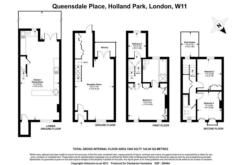 4 Bedroom Terraced House To Rent In Queensdale Place
