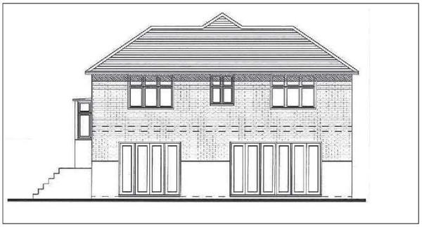 Proposed rear elevation.