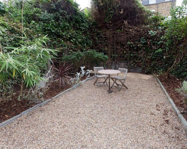 photo of gravel garden and urban garden