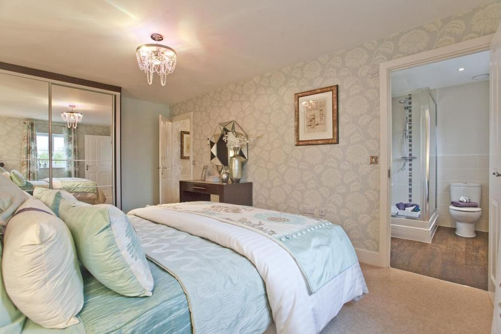 photo of soft beige white bedroom with carpet wallpaper