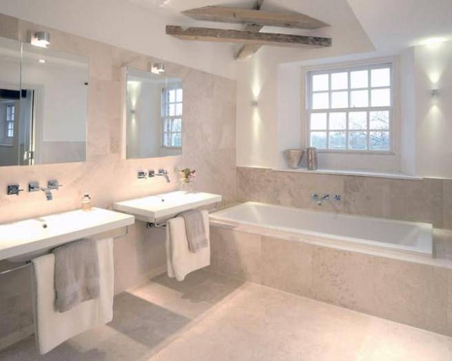 Creative 40 Beige Stone Bathroom Tiles Ideas And Pictures