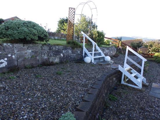 Terraced rear garden