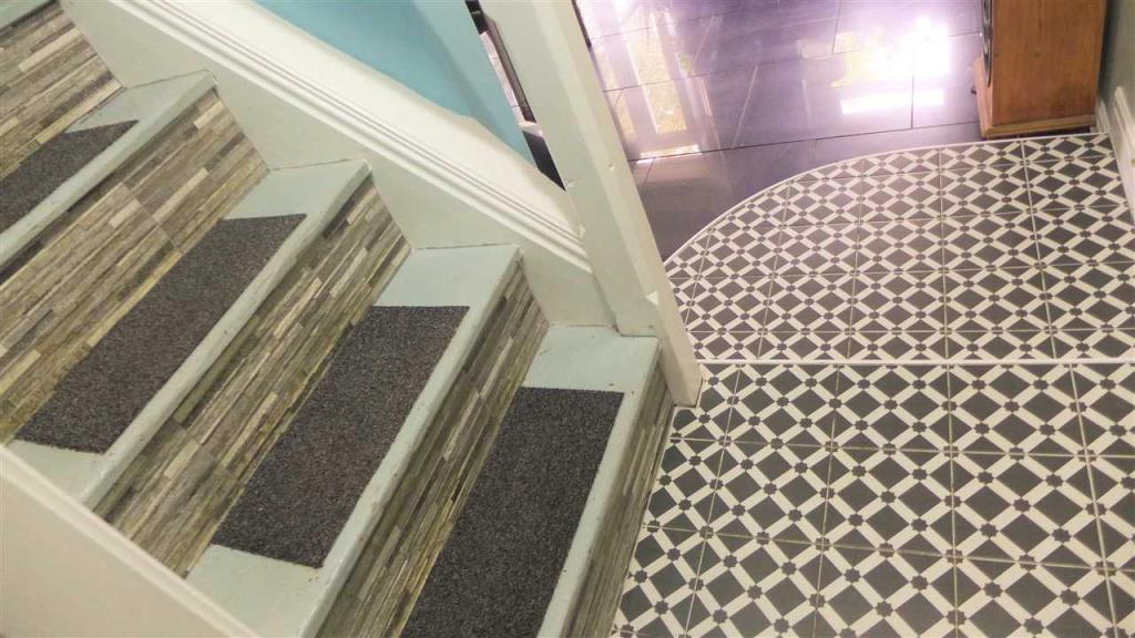 Staircase to kitchen