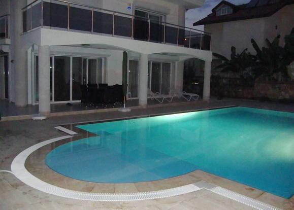 Night lit pool