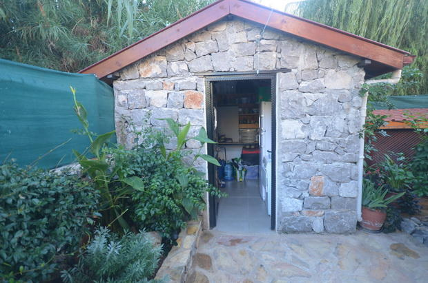 Stone built shed