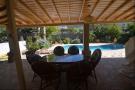 Shady dining terrace