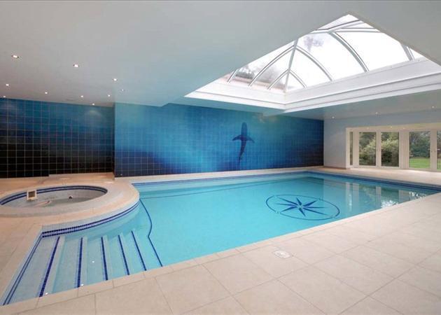 8 bedroom detached house for sale in queens drive oxshott for Indoor natatorium design and energy recycling