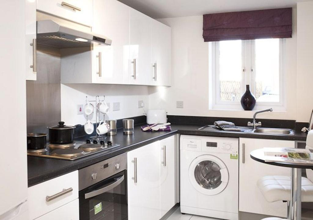 Typical 2 bedroom apartment kitchen interior