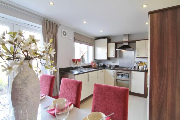 Typical Regis dining area to the fitted kitchen