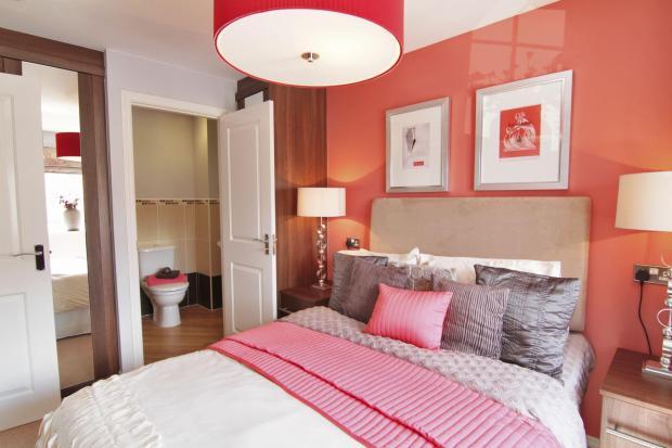 Typical Regis master bedroom with modern en suite