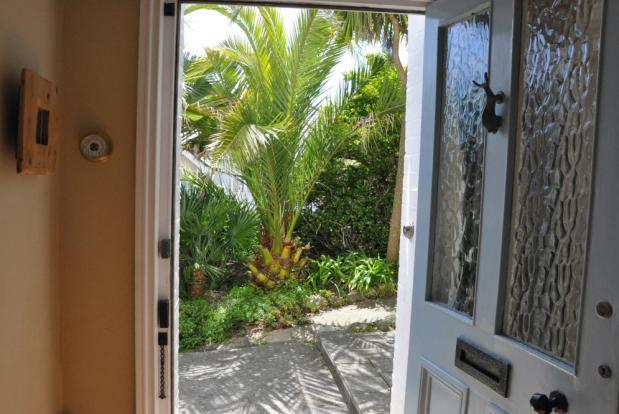 Front door to garden