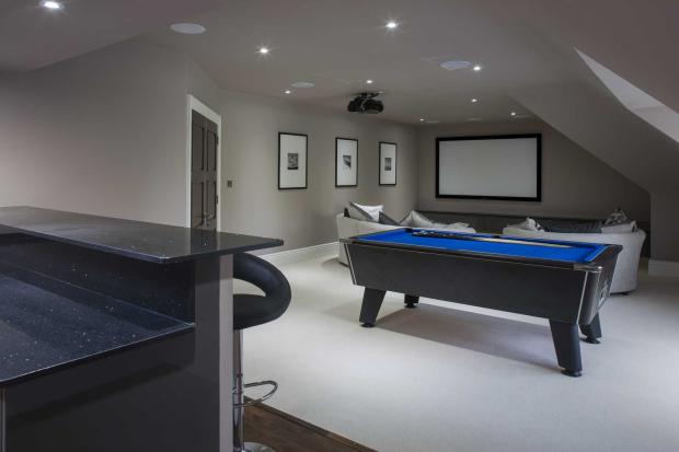 Media room and bar