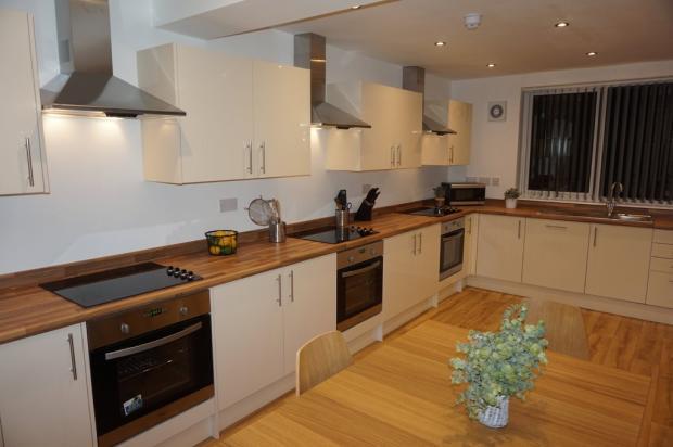 Communal kitchen ...