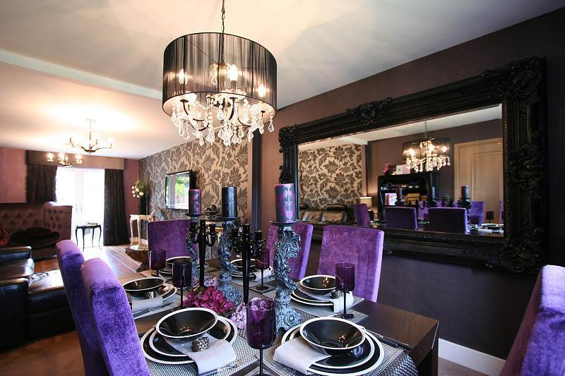 Purple Dining Rooms Pinterest - Home Design - Mannahatta.us