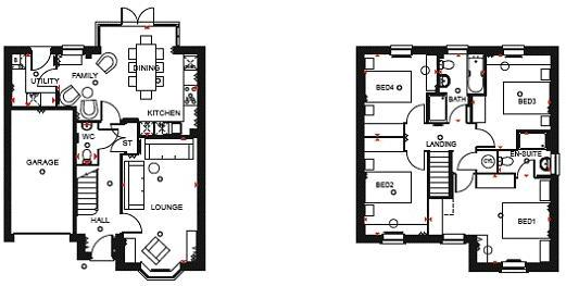 Milford Floor Plan