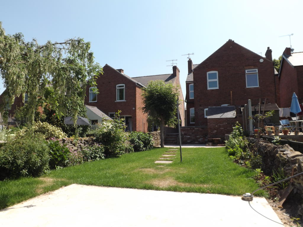Rear of the house
