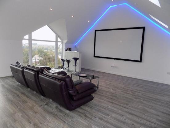 Open plan lounge / cinema