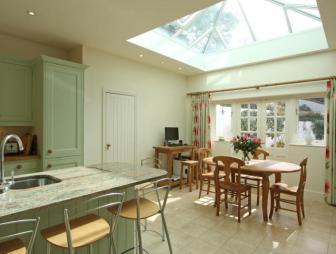 photo of cream olive white with skylight