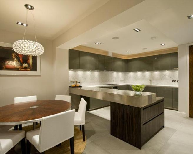 Open plan kitchen design ideas photos inspiration for Dining room lighting ideas uk