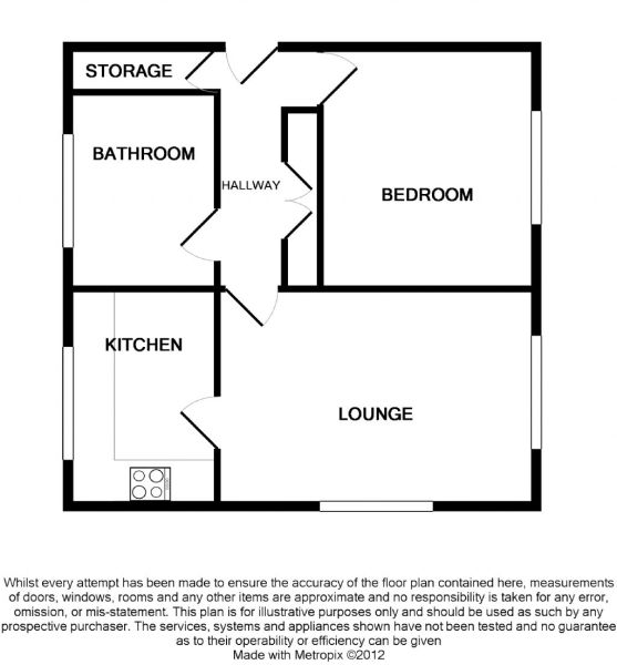 1 bed flat floor plans 1 wall decal for One bedroom flat floor plan