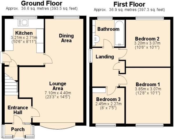 Woodworking plans 3 bed house plans uk pdf plans for Uk house floor plans