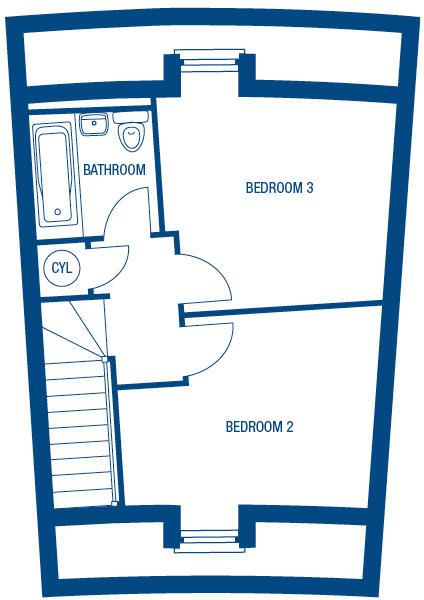 Second Floor Dimensions