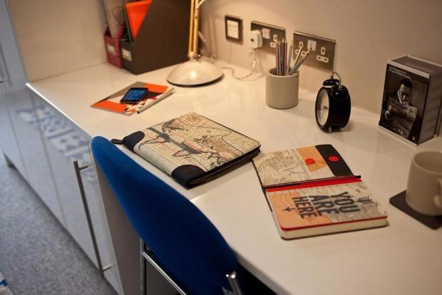 Work area + storage