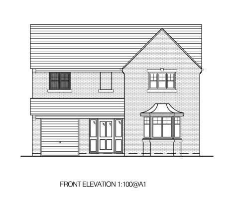 B Front elevation