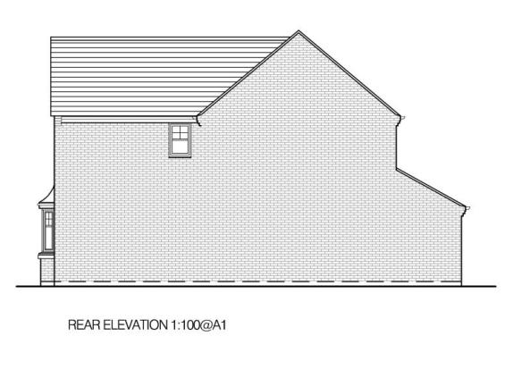 B Rear elevation