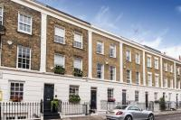 Terraced house in Caroline Terrace, London...