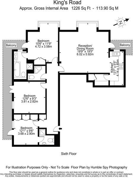 Floorplan Kings Chel