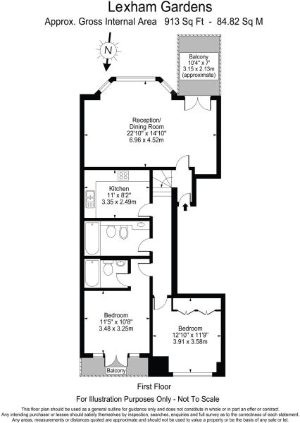 Floor plan Lexham Ga