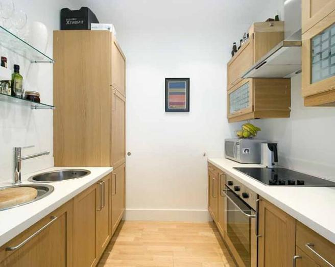 Galley kitchen design ideas photos inspiration for Small kitchen ideas uk