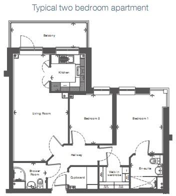 Typical Two Bedroom Apartment