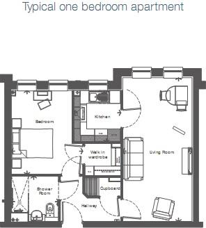 Typical One Bedroom Apartment