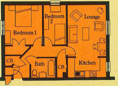2-bed Floor plan